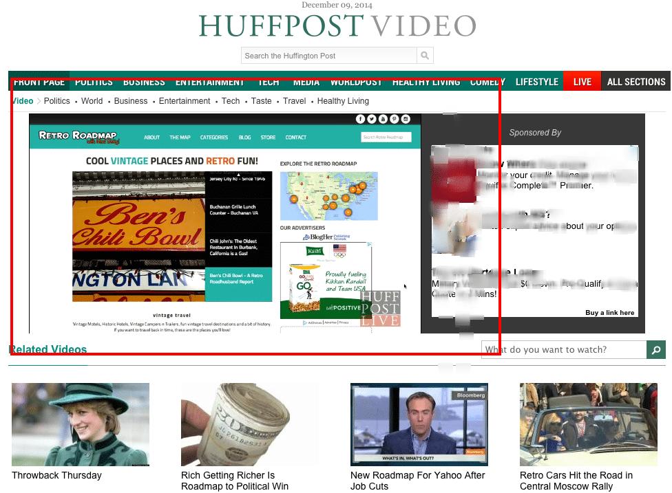 Retro Roadmap  VIDEO    Huffington Post