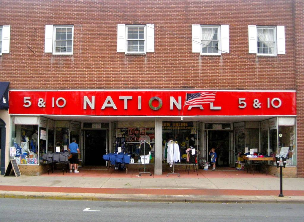 National 5 & 10 Store Newark DE 2010