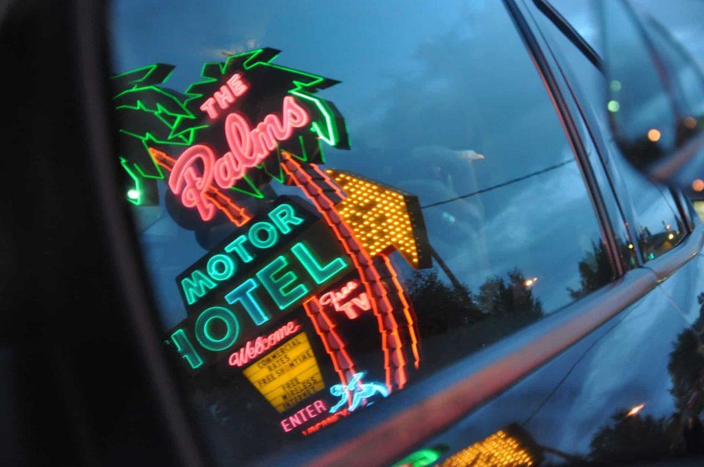 The Palms Motel Neon Sign Portland OR Retro Roadmap