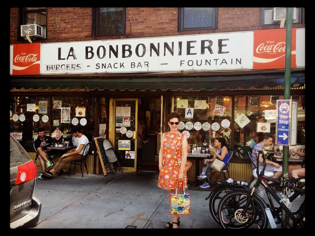 La Bonbonniere New York City NY West Village Mod Betty Retro Roadmap
