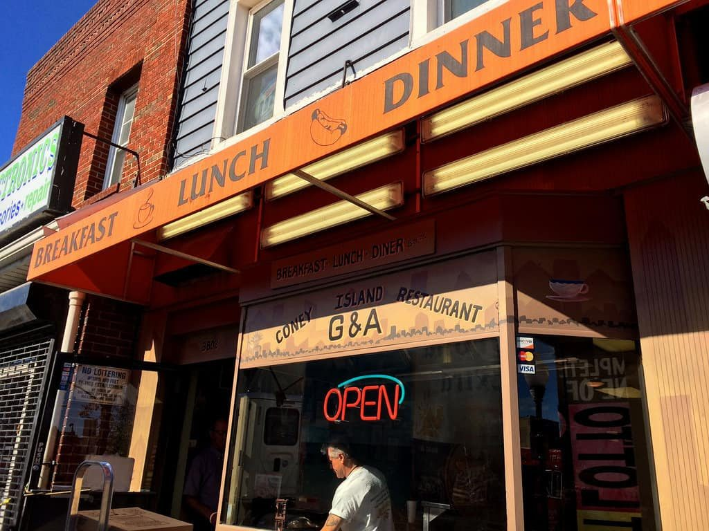 G & A Restaurant Baltimore MD Coney Retro Roadmap