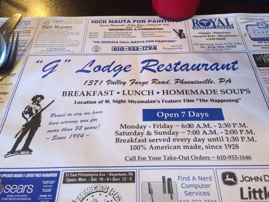 G Lodge Restaurant Phoenixville PA Retro Roadamp