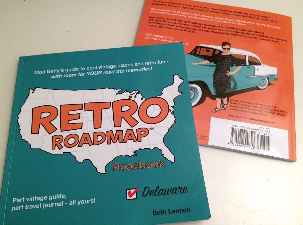Vintage Places Travel Guide Retro Roadmap Road Map Delaware Mod Betty