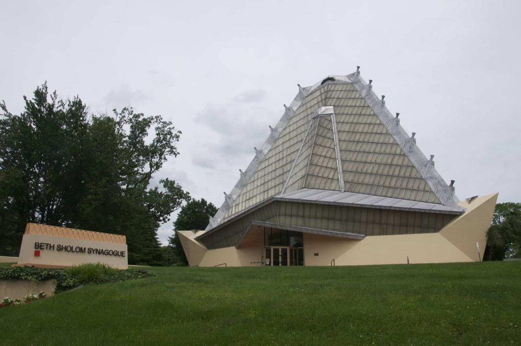 Frank Lloyd Wright - Beth Sholom Synagogue - Elkins Park PA - Retro Roadmap