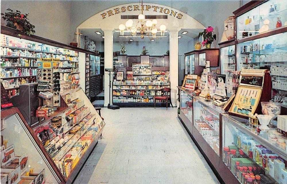 Barclay Pharmacy Interior Vintage